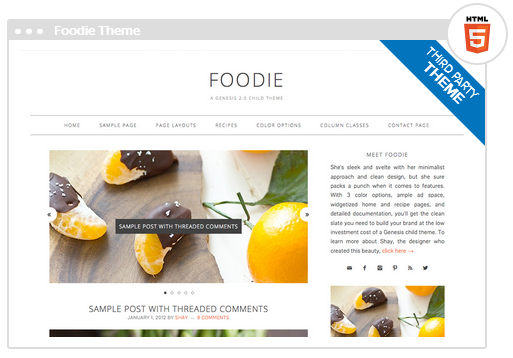 Design Blogs Best best food blog wordpress themes - pure living for life