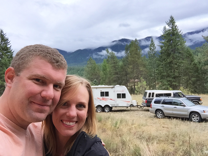 The first day we arrived on our property with our RV, truck and Subaru! We had a lot of work to get done!