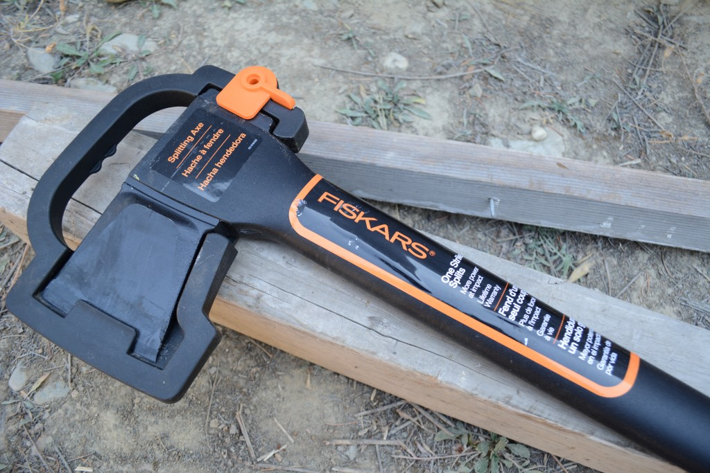 Our Fiskars axe. Seems legit so far.