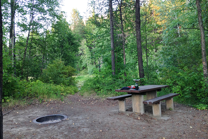 We loved this secluded camping spot with no other campers in sight!