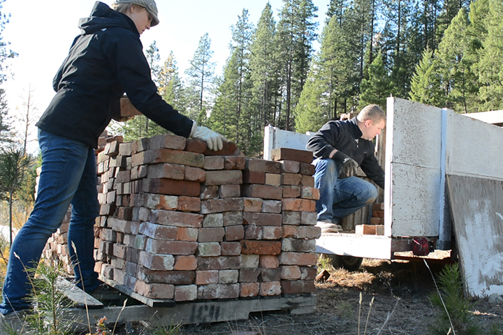 We moved 2,000 bricks within a couple of days and they've already come in handy around the property. Brick is awesome… if you see any at a ridiculously low cost, snag it up!