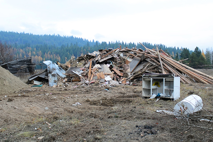 Here is the house after it was completely demolished.