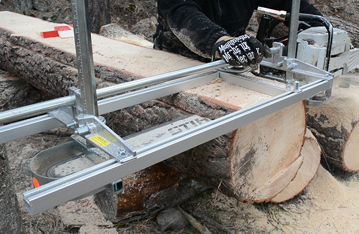 We had fun playing with our new Granberg chainsaw mill.