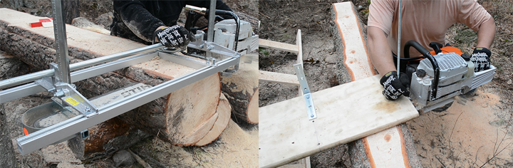 Cue the epic battle music... which should you choose, a DIY or a professional chainsaw mill?
