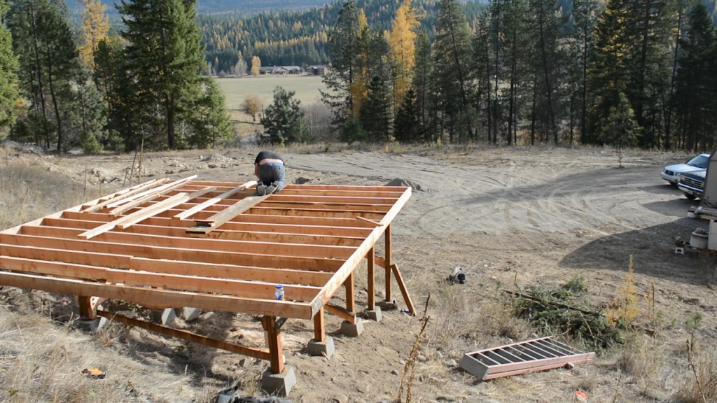 Here is the framework for our hot tub deck! Not bad for a few solid days of work.