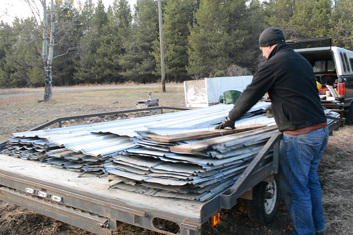 finding reclaimed building materials - metal roofing