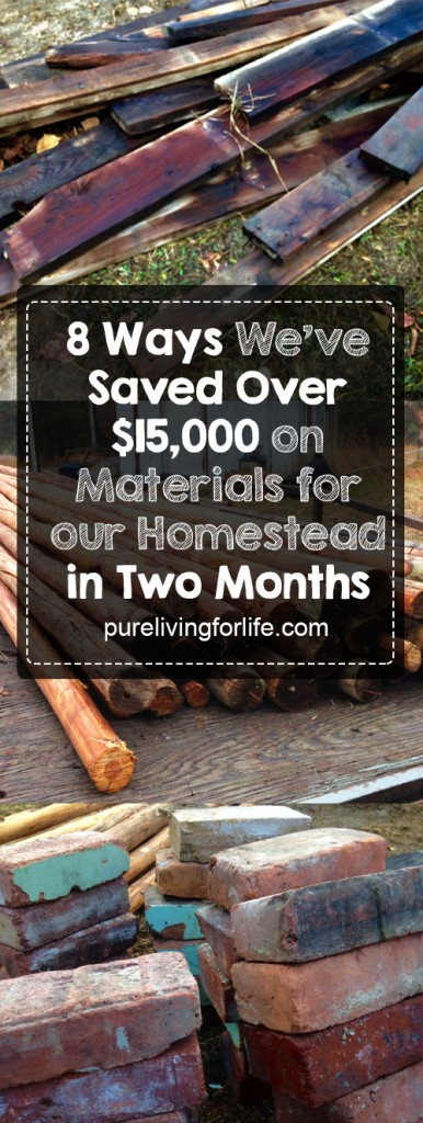 How we've found over $15,000 in reclaimed materials for our homestead in just two months! #homestead #homesteading #offgrid #upcycle #upcycling #reuse