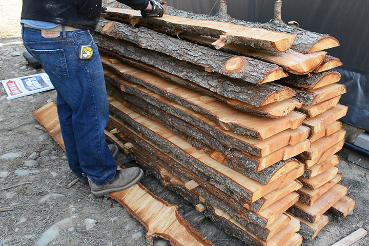 "We milled up all of this lumber yet had a lot of ""waste"" that needed a use."