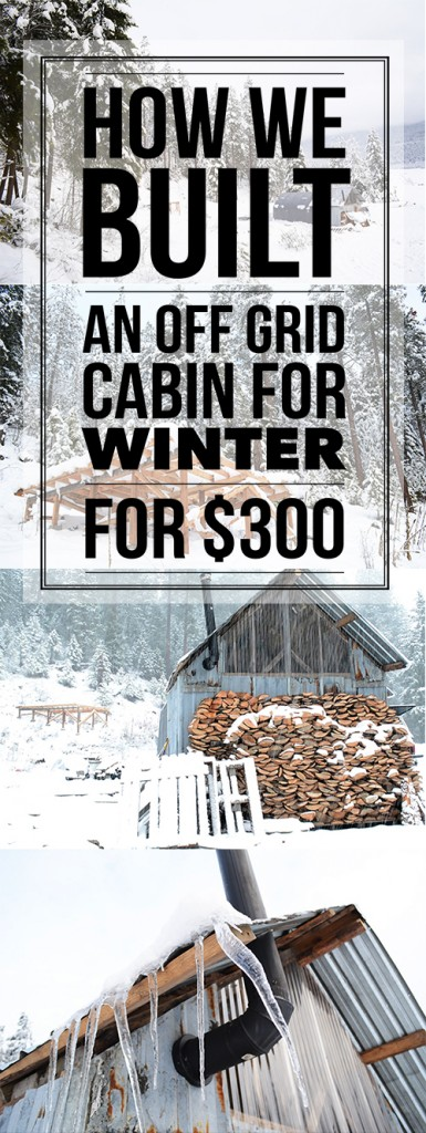 How this young couple managed to build an #offthegrid #cabin for their first winter on their #homestead with $300 and a little ingenuity! #offgrid #homesteading