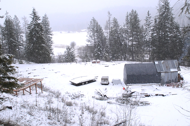 off grid homestead winter