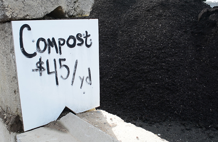 compost soil additive for garden