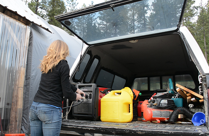 Our generator is easy to work with and easy to lift. Perfect for one person.