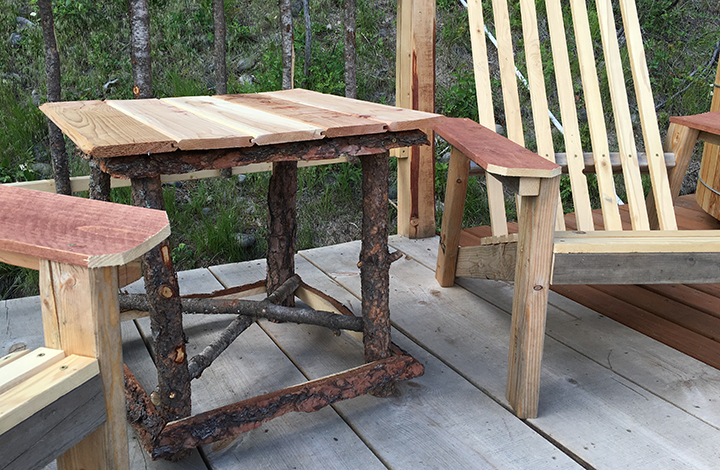 Aren't these rustic-looking and incredibly appropriate for our deck?