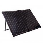 renogy 100w portable folding solar panel kit and suitcase