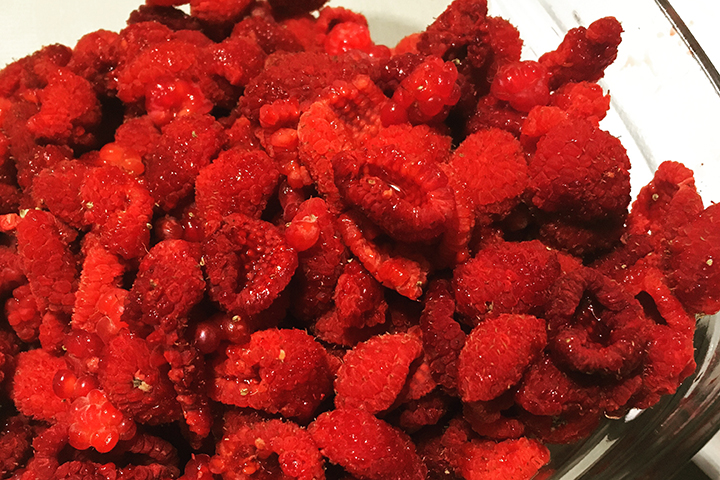 These thimbleberries will make such a rich, delectable jam.