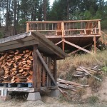 DIY Firewood Storage Shed Using Reclaimed Materials