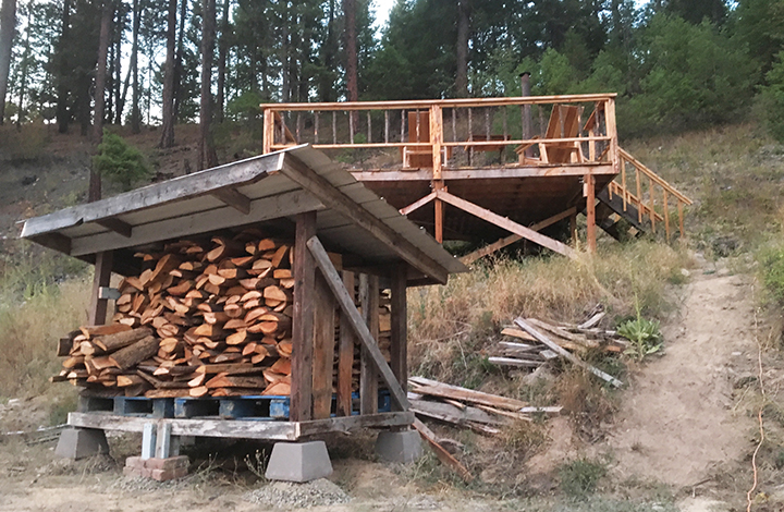 diy firewood storage shed plans