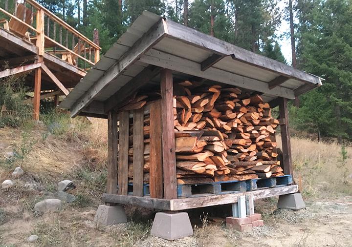 diy firewood storage