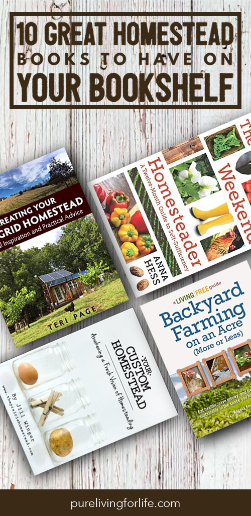 Sometimes, nothing is more enjoyable then getting away from the computer screen and curiling up with tea and a good book. These are pretty great homestead books to keep on the bookshelf for those moments!