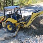 opering heavy construction equipment