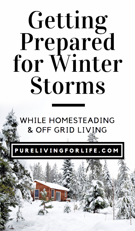 It's never too early to get ready for winter storms (or any storm for that matter)!