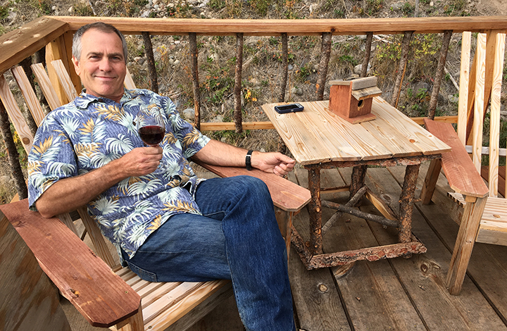 My dad retired a couple months ago... he's doing it right in his Hawaiian shirt and sipping his wine on our deck!