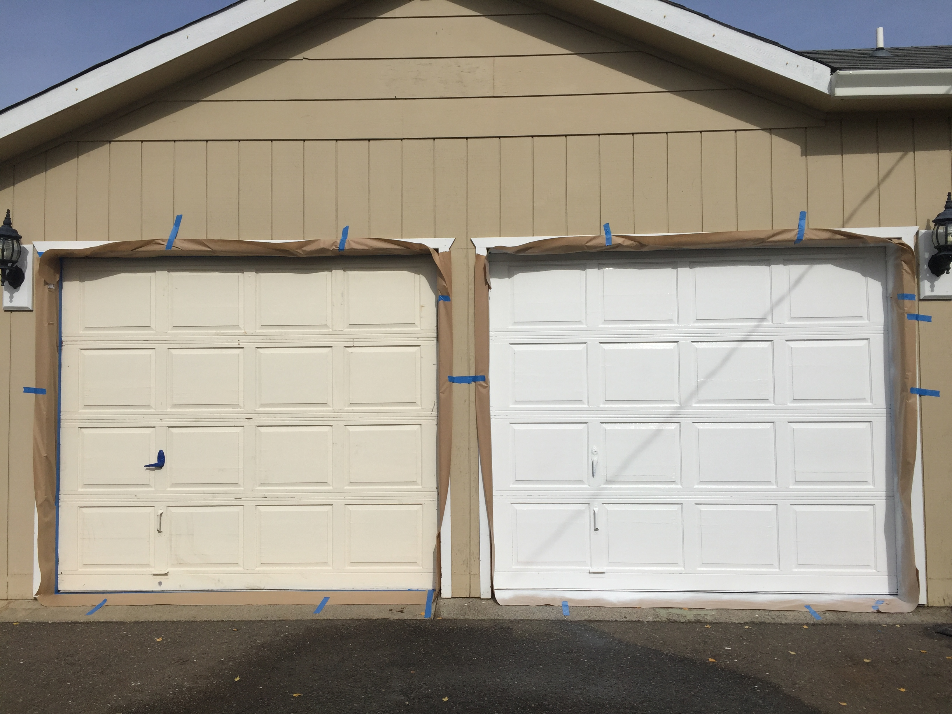 One of the things Jesse did in Oregon was install and paint new garage doors.