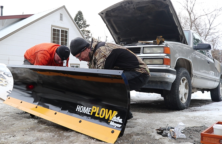 meyer snowplow for driveway snow removal