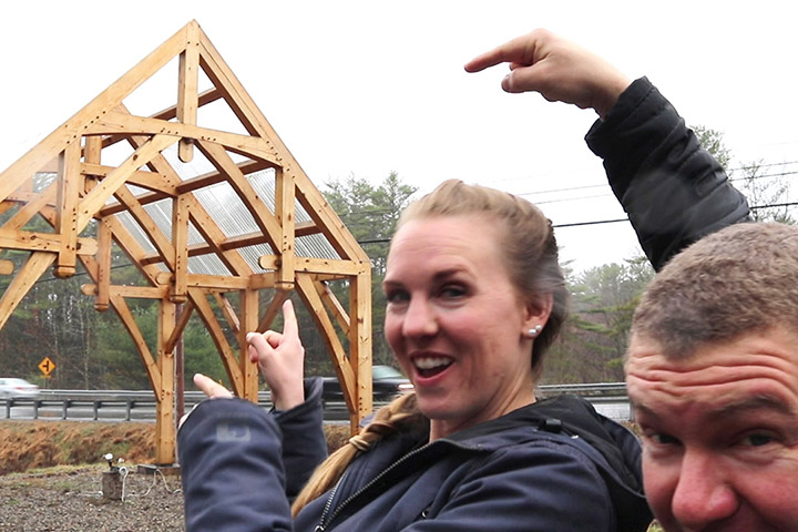 timber frame workshop - shelter institute maine