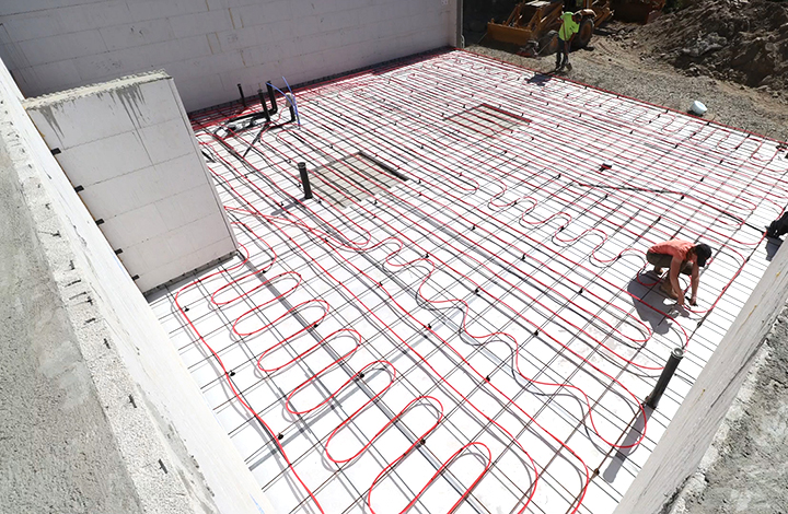 in slab radiant heating