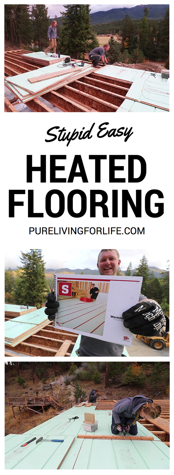 radiant heated floors pin