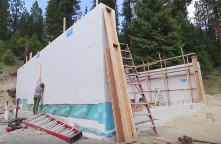 plumbing icf block walls