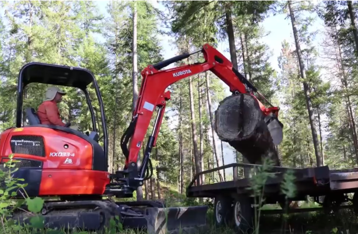 moving logs to sawmill