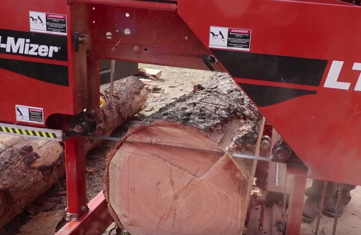 portable sawmill blade width